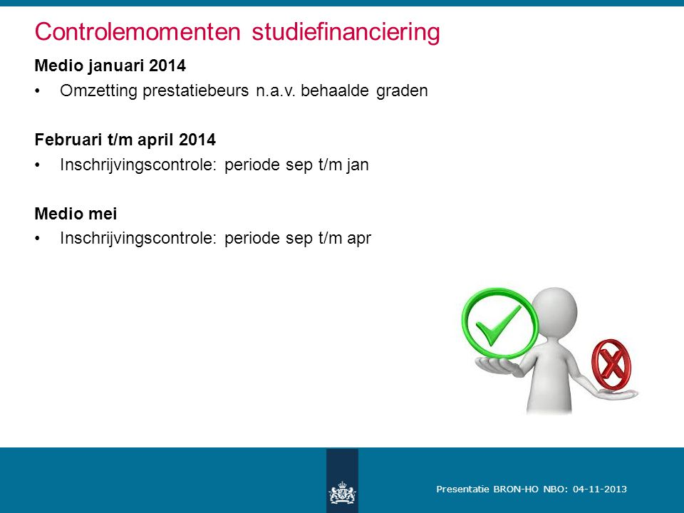 Controlemomenten studiefinanciering
