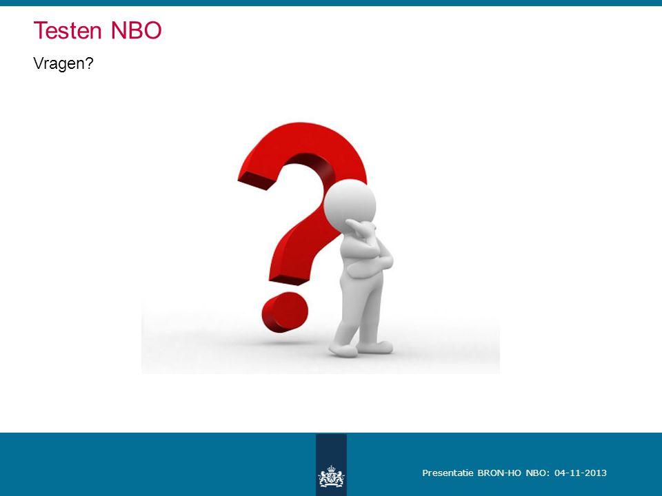 Testen NBO Vragen