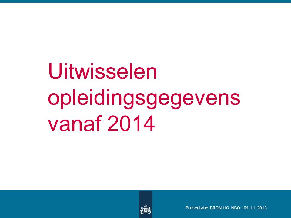 Uitwisselen opleidingsgegevens vanaf 2014