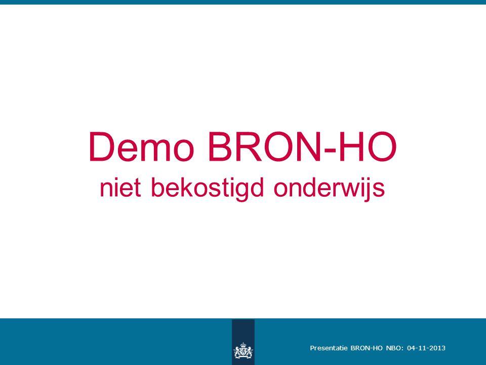 Demo BRON-HO niet bekostigd onderwijs