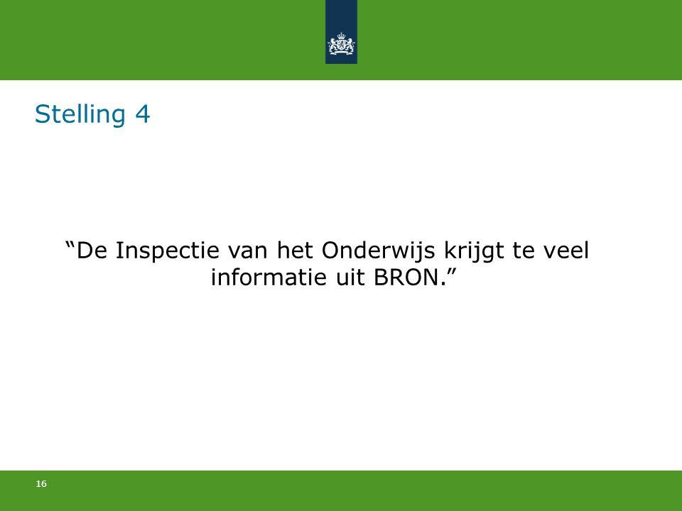 De Inspectie van het Onderwijs krijgt te veel informatie uit BRON.