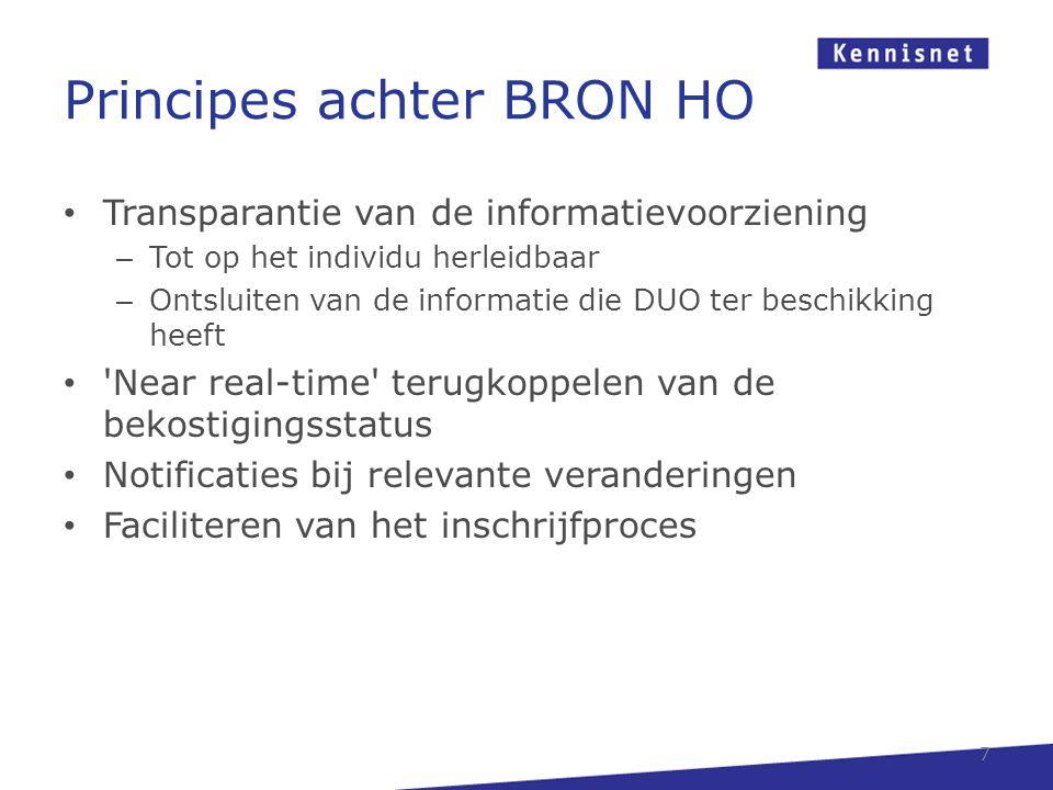 Principes achter BRON HO