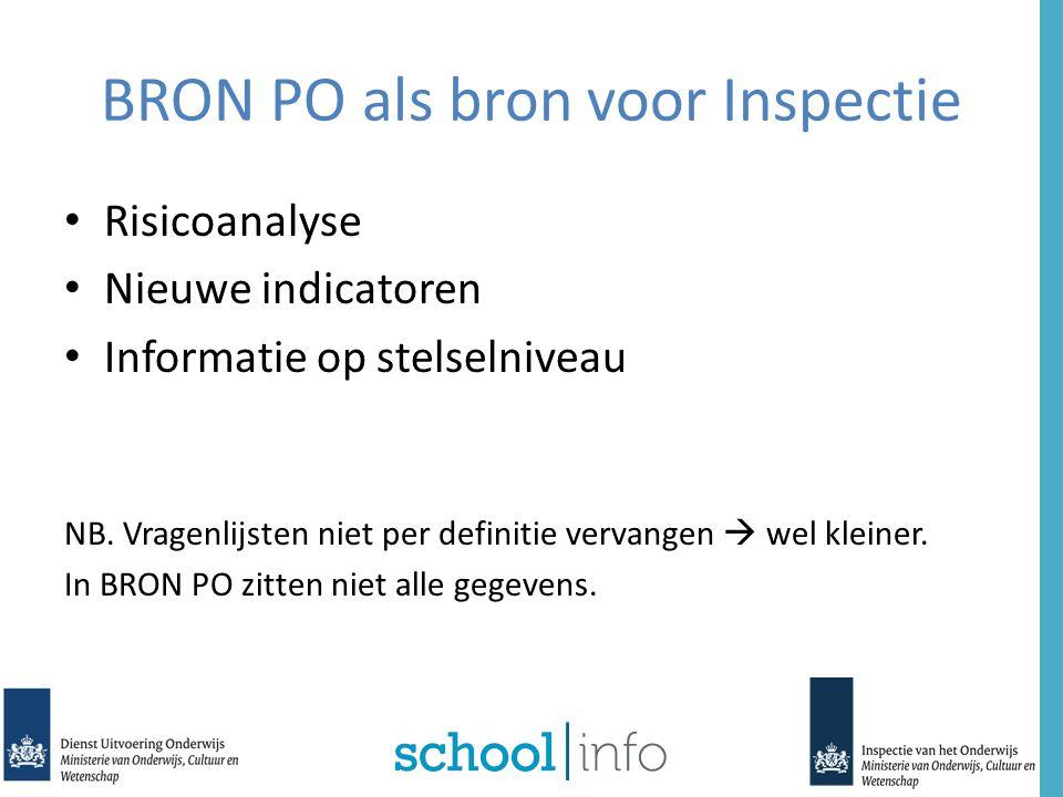 BRON PO als bron voor Inspectie