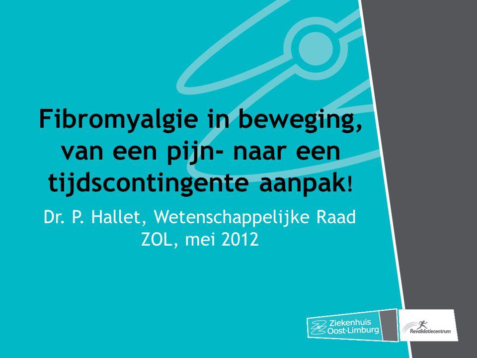 Dr. P. Hallet, Wetenschappelijke Raad ZOL, mei 2012