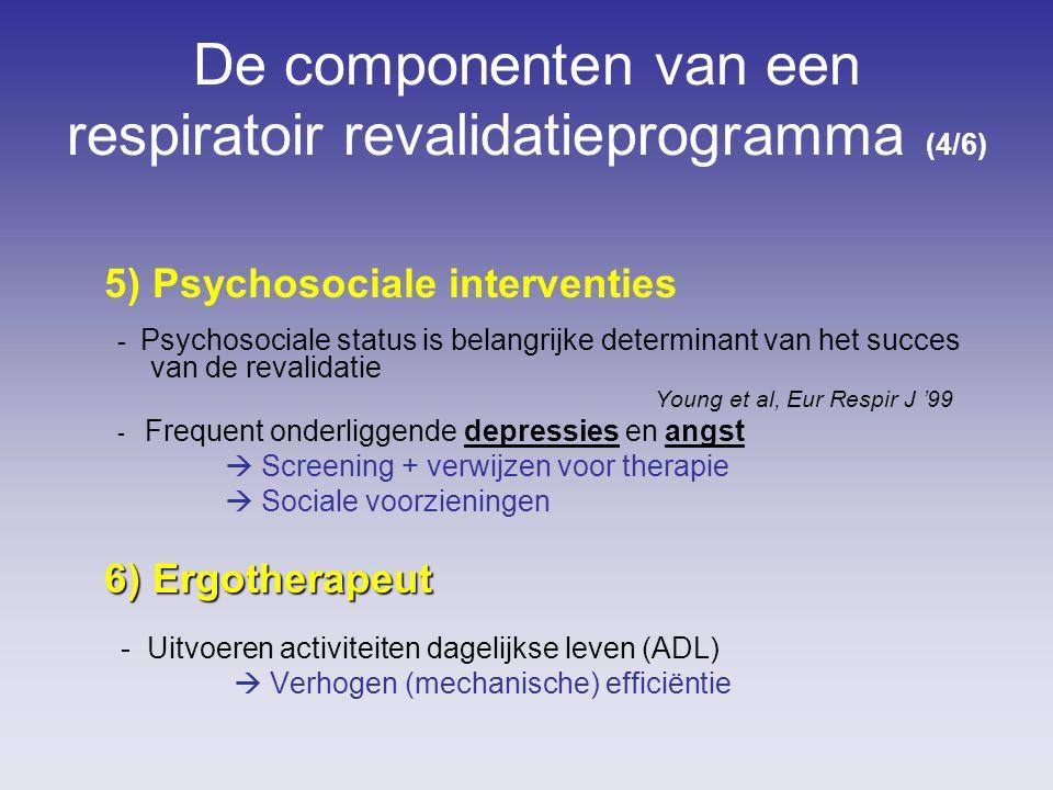 De componenten van een respiratoir revalidatieprogramma (4/6)