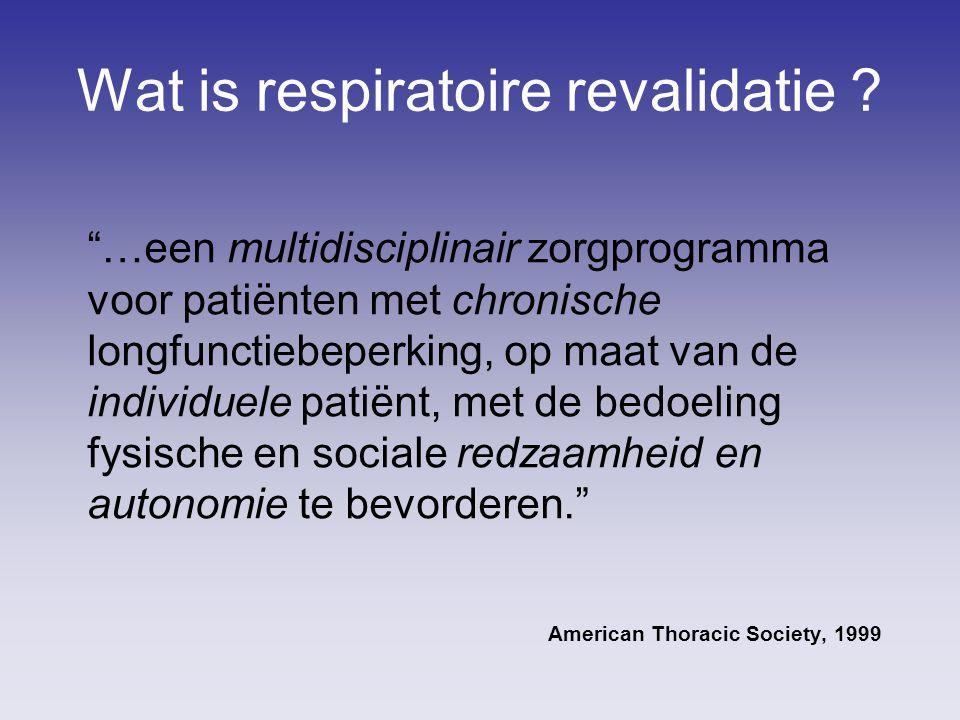 Wat is respiratoire revalidatie