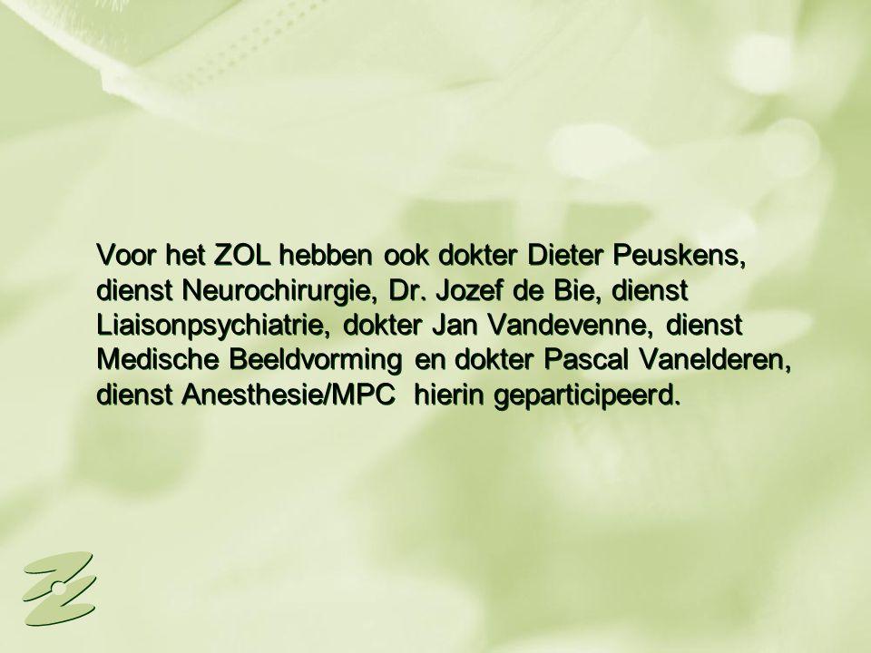 Voor het ZOL hebben ook dokter Dieter Peuskens, dienst Neurochirurgie, Dr.