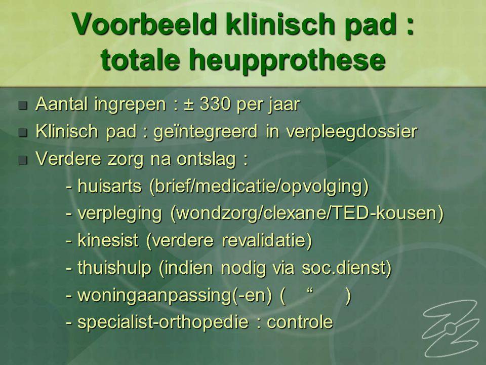 Voorbeeld klinisch pad : totale heupprothese