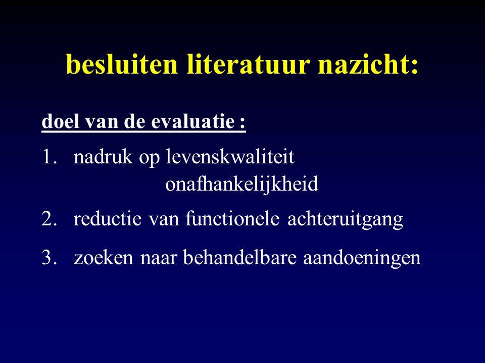 besluiten literatuur nazicht: