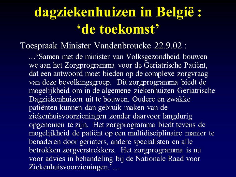 dagziekenhuizen in België : 'de toekomst'