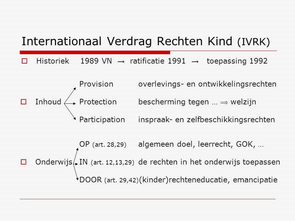 Internationaal Verdrag Rechten Kind (IVRK)
