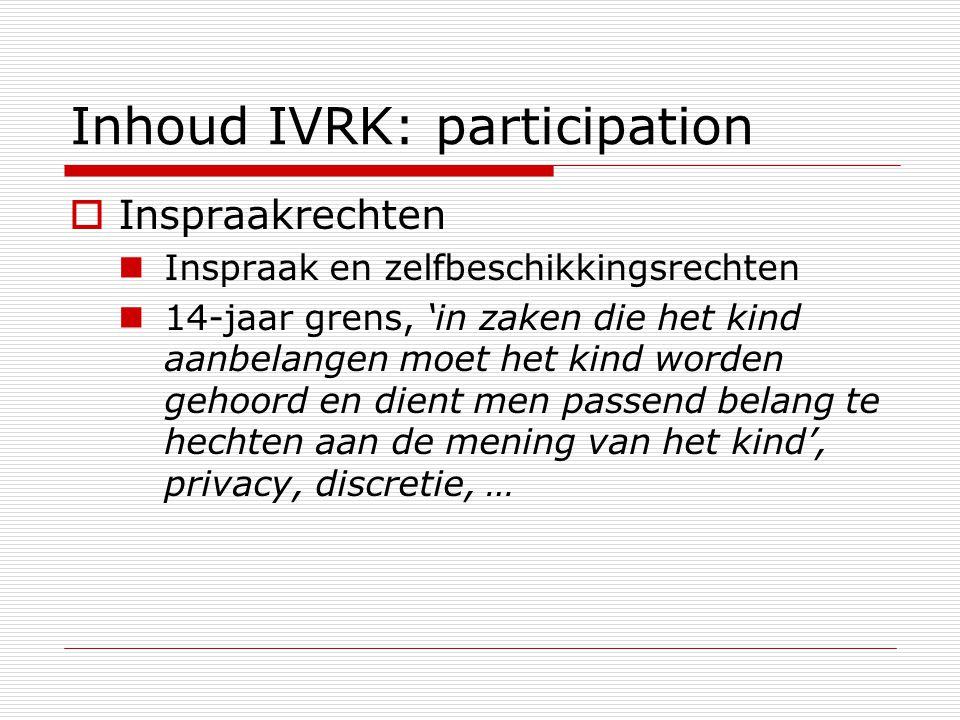 Inhoud IVRK: participation