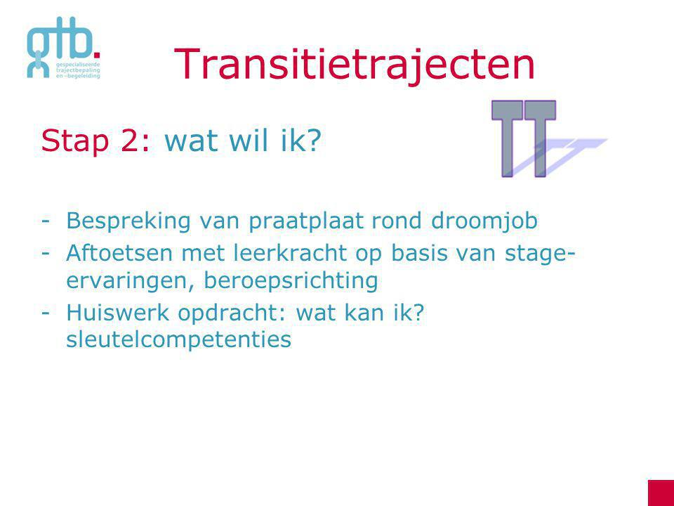 Transitietrajecten Stap 2: wat wil ik