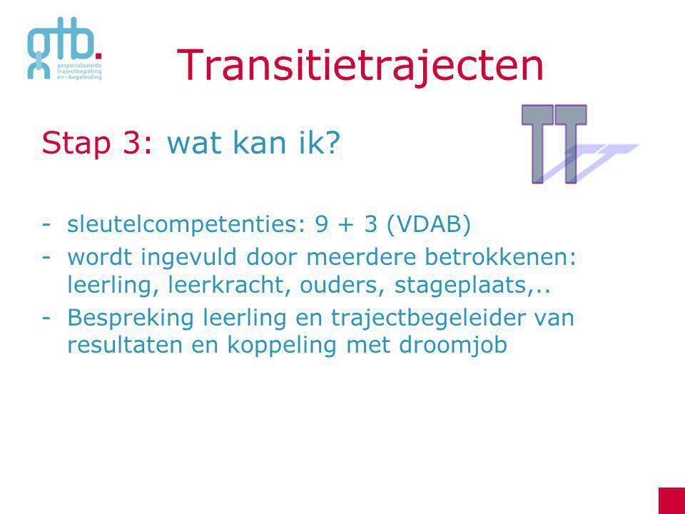 Transitietrajecten Stap 3: wat kan ik