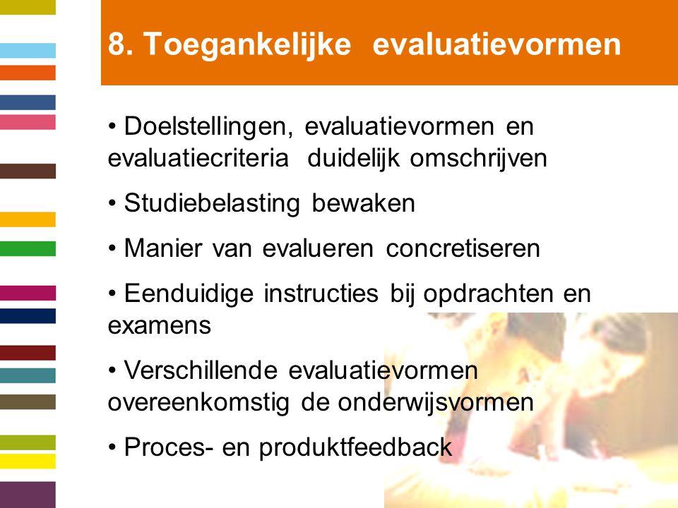 8. Toegankelijke evaluatievormen