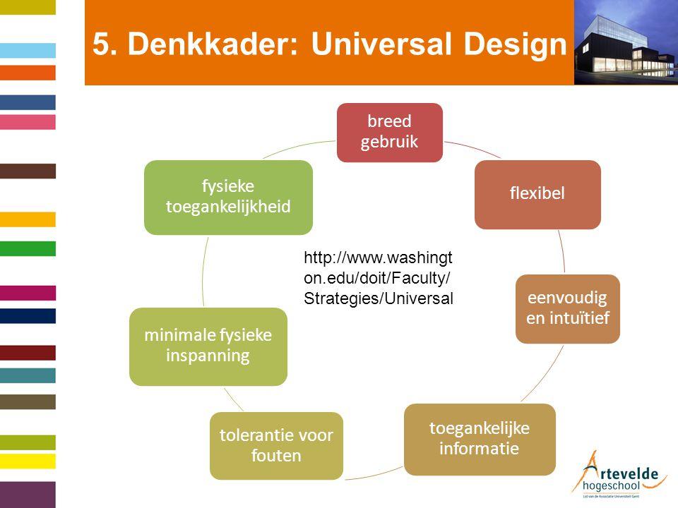 5. Denkkader: Universal Design