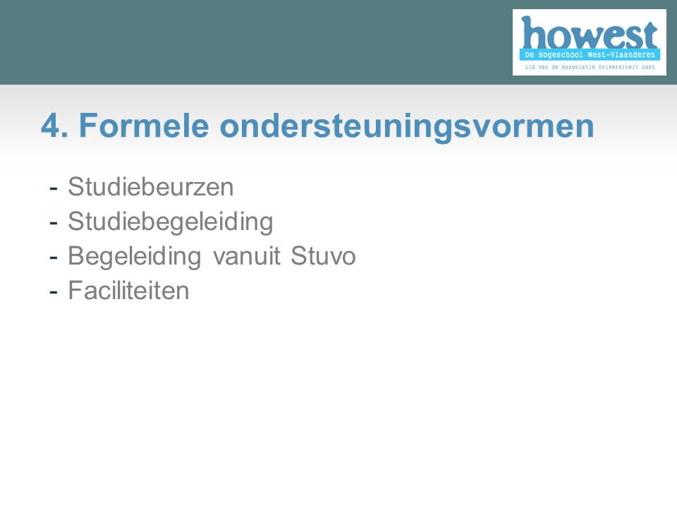 4. Formele ondersteuningsvormen