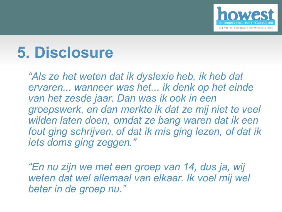 5. Disclosure