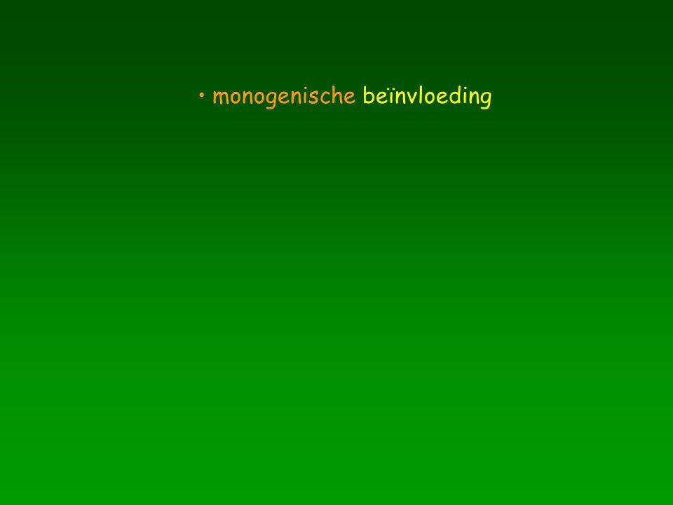 monogenische beïnvloeding