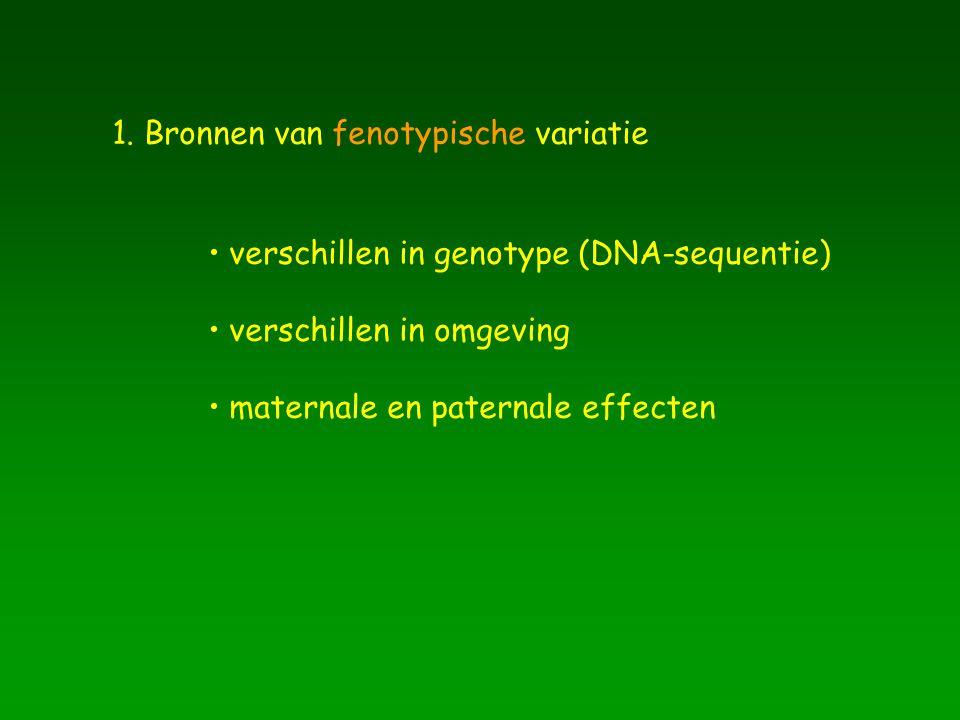 1. Bronnen van fenotypische variatie