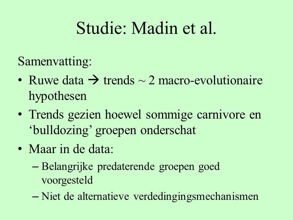 Studie: Madin et al. Samenvatting: