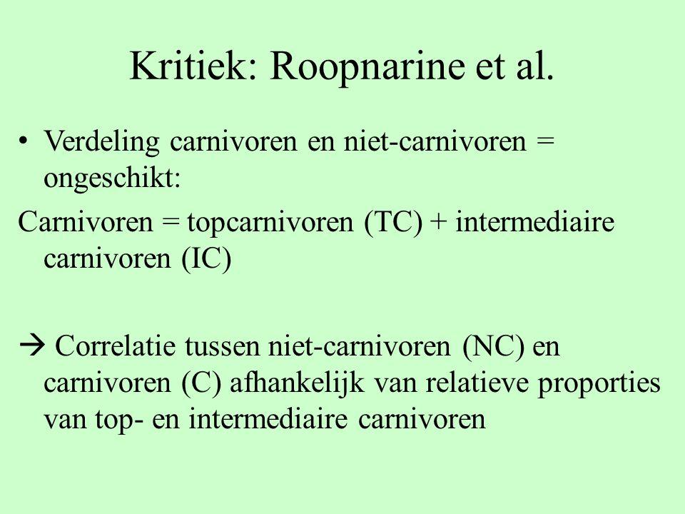 Kritiek: Roopnarine et al.
