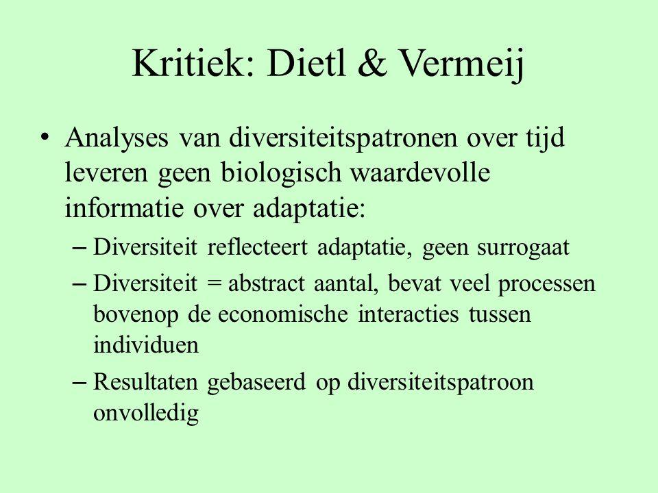 Kritiek: Dietl & Vermeij