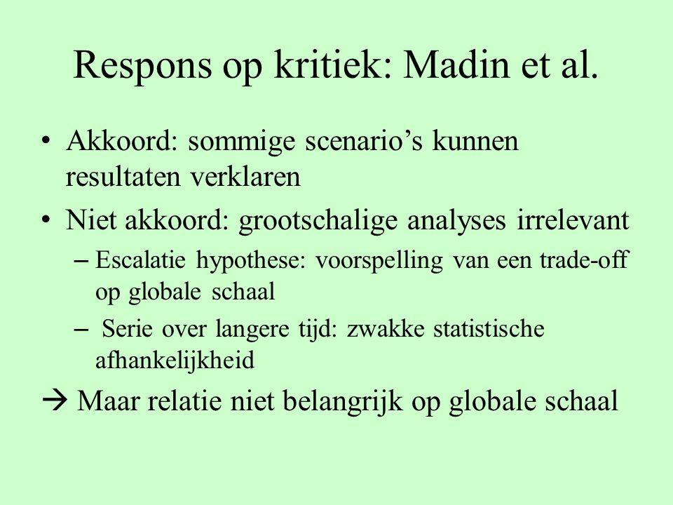 Respons op kritiek: Madin et al.