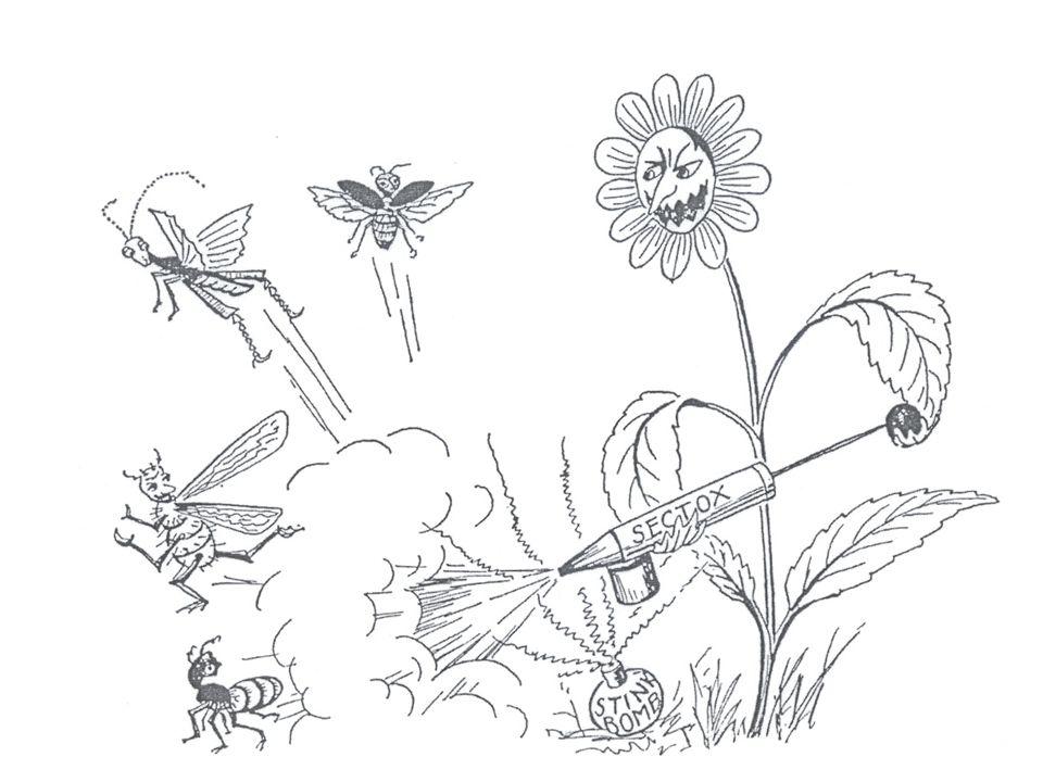 Evolutie van de secundaire plantenstoffen = coëvolutie met herbivoren