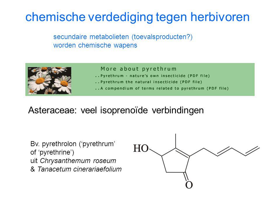 chemische verdediging tegen herbivoren