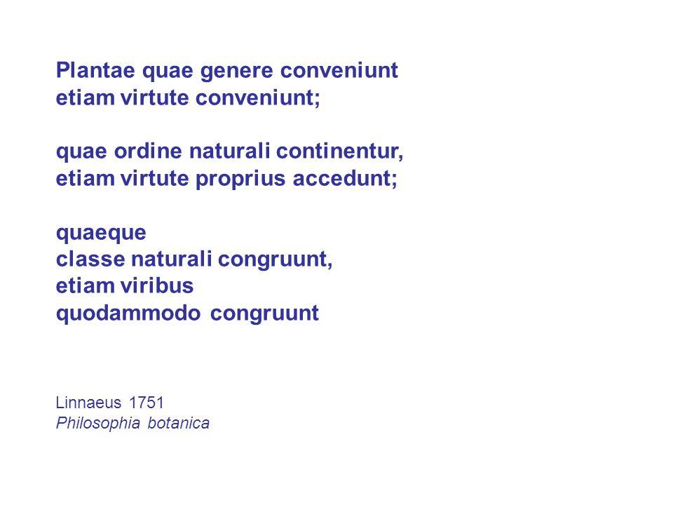 Plantae quae genere conveniunt etiam virtute conveniunt;