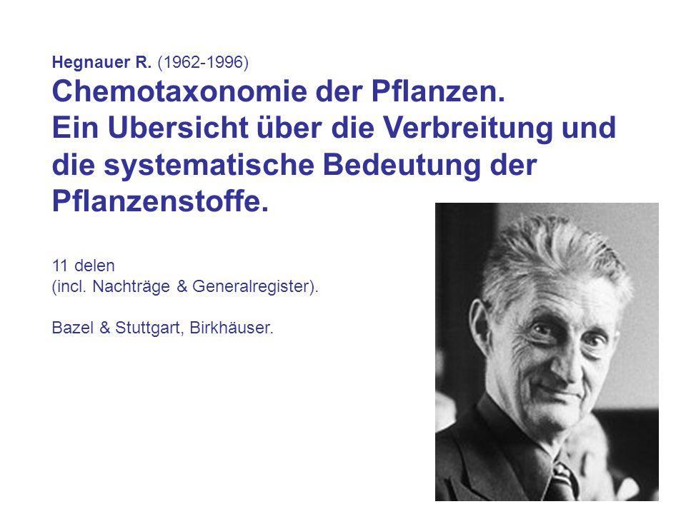 Chemotaxonomie der Pflanzen.