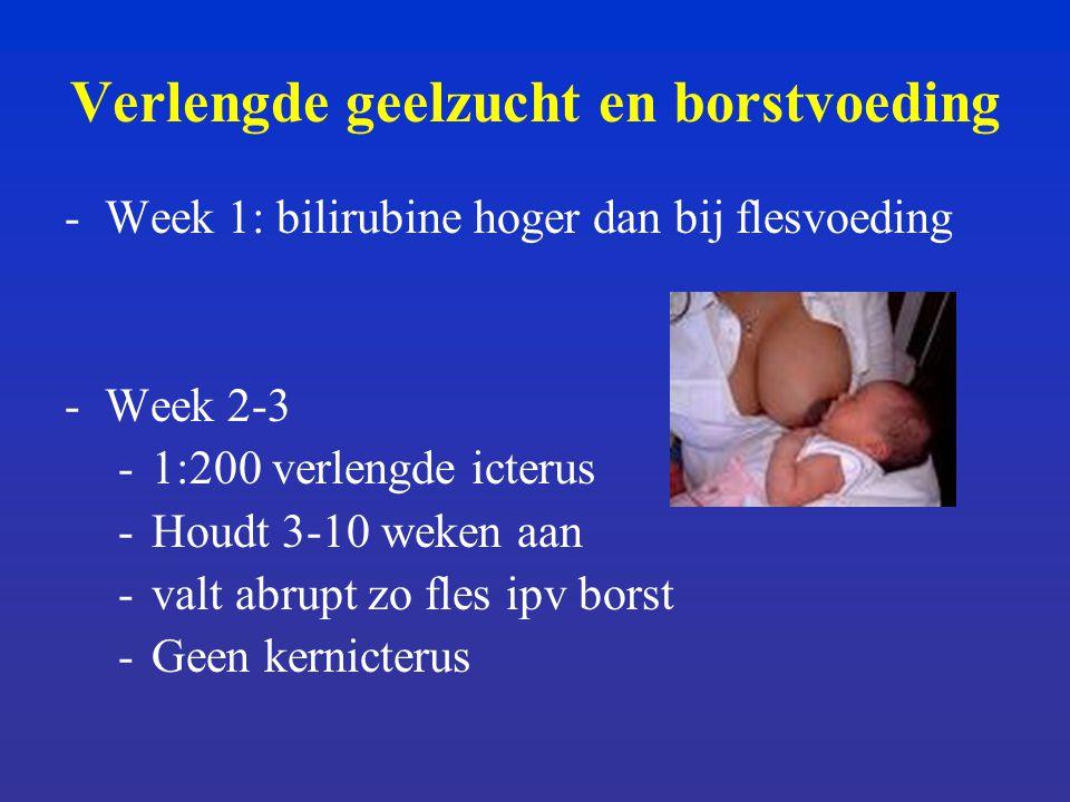 Verlengde geelzucht en borstvoeding