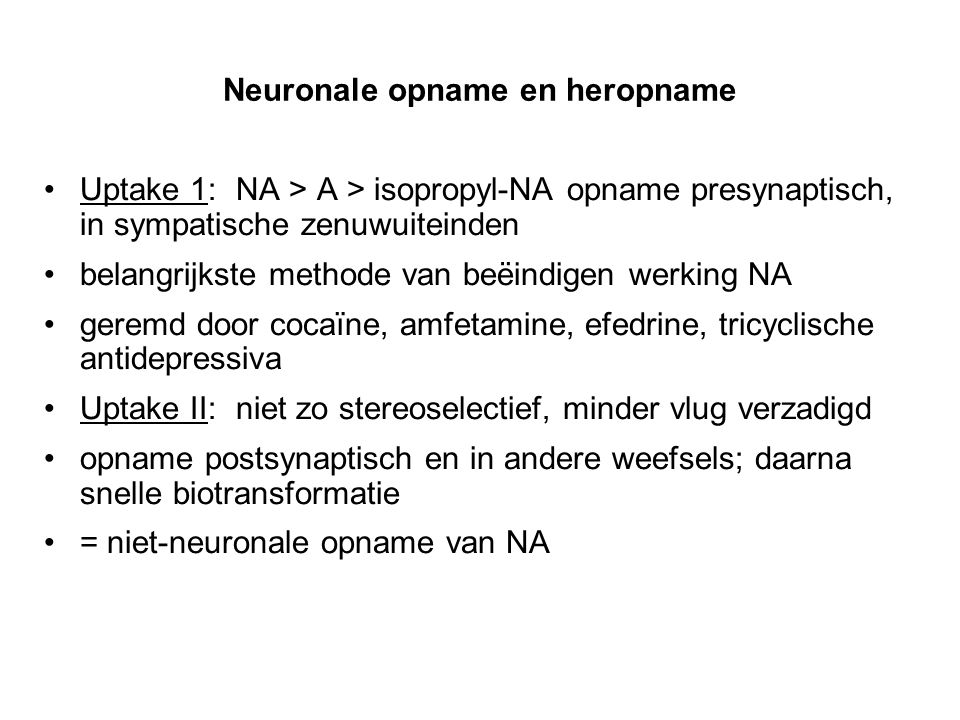 Neuronale opname en heropname