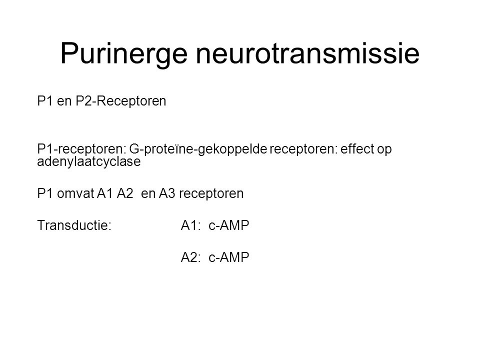 Purinerge neurotransmissie