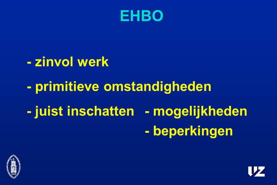 EHBO - zinvol werk - primitieve omstandigheden