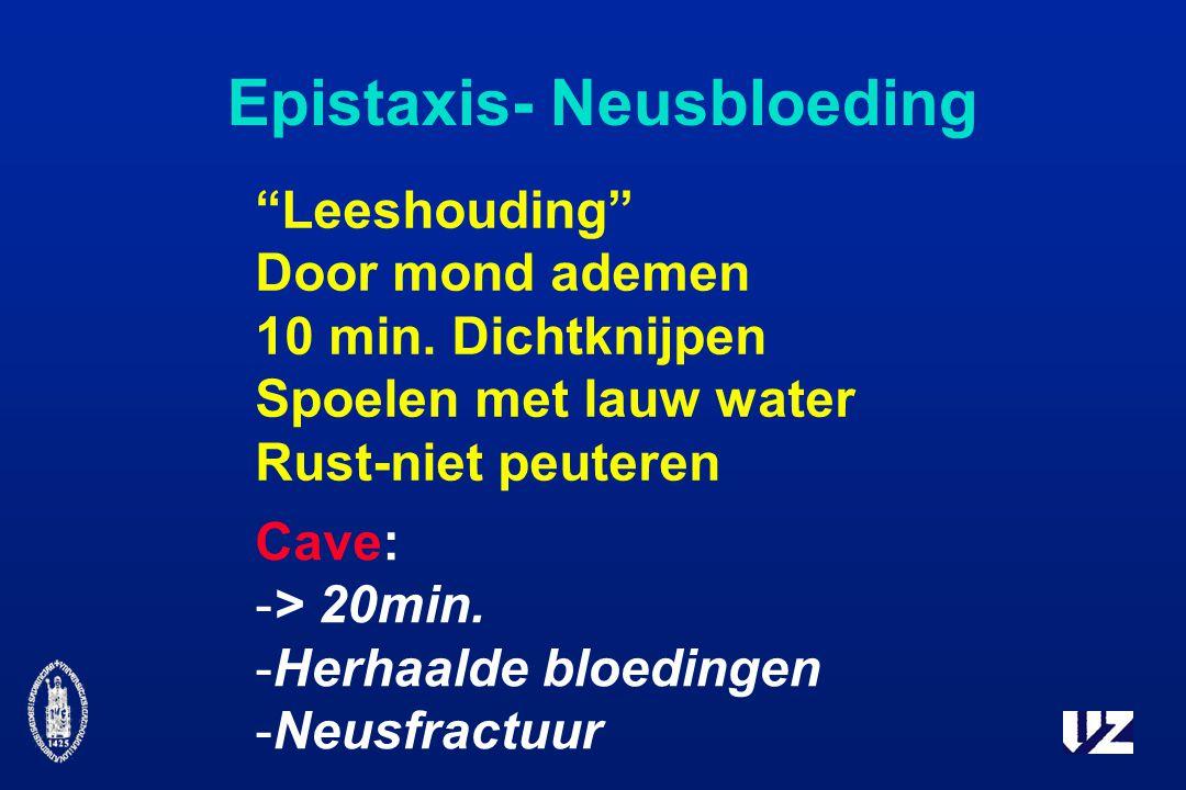 Epistaxis- Neusbloeding