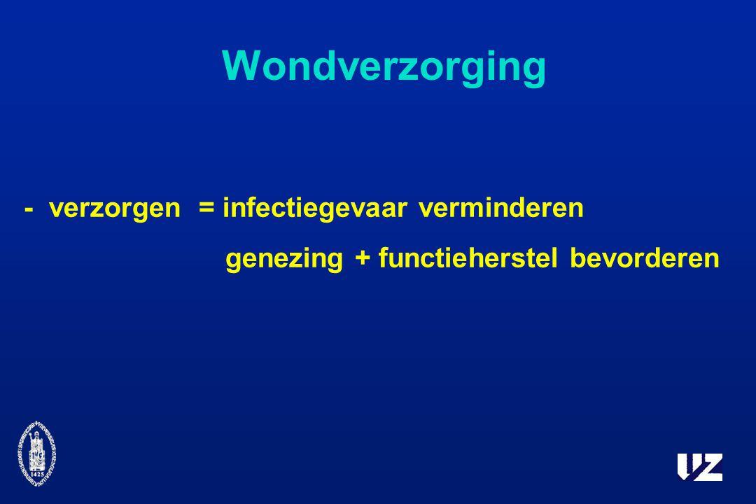 Wondverzorging - verzorgen = infectiegevaar verminderen