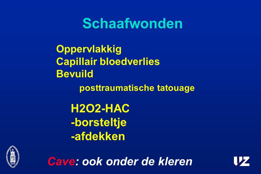 Schaafwonden posttraumatische tatouage H2O2-HAC -borsteltje -afdekken