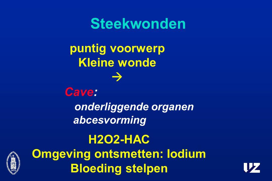 Omgeving ontsmetten: Iodium