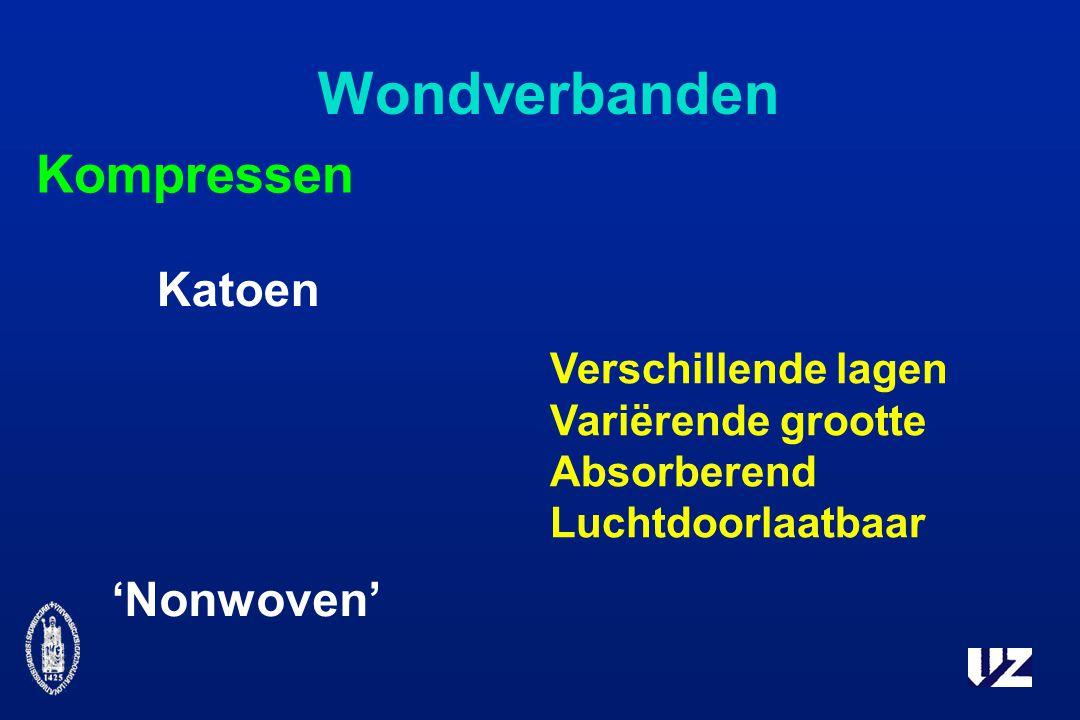 Wondverbanden Kompressen Katoen 'Nonwoven' Verschillende lagen