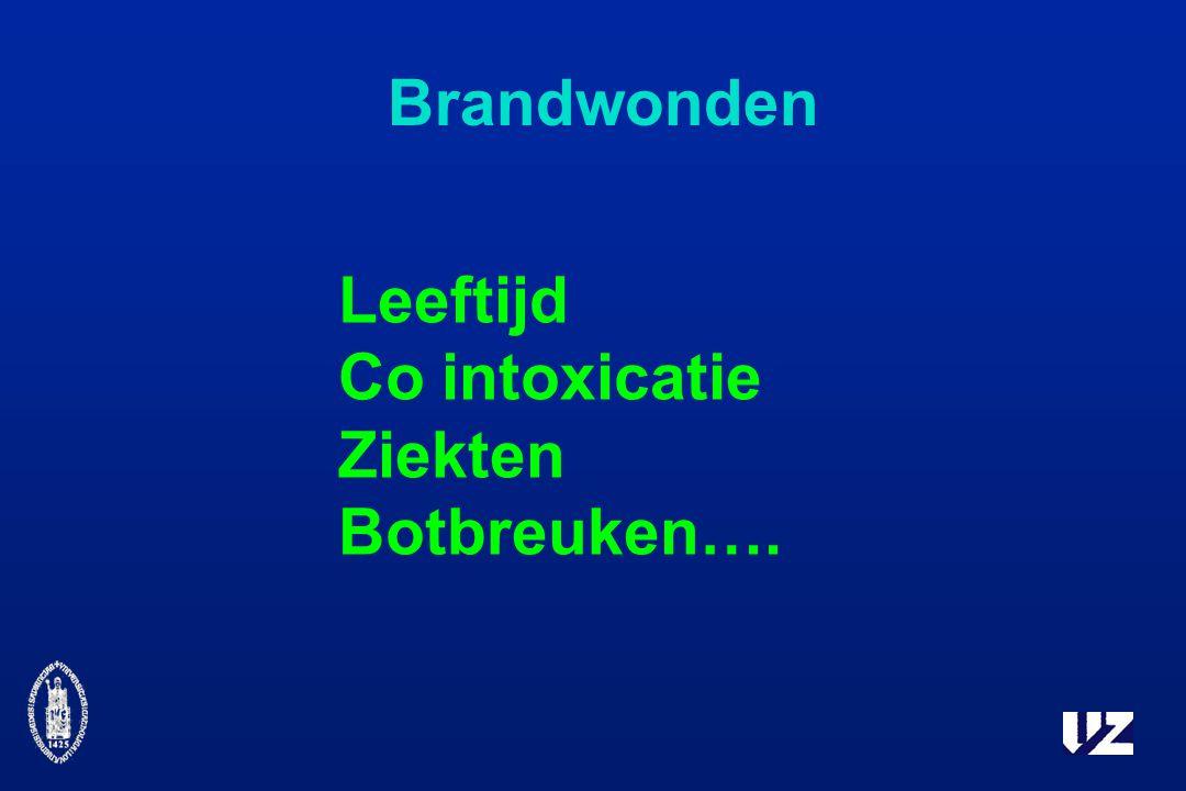 Brandwonden Leeftijd Co intoxicatie Ziekten Botbreuken….