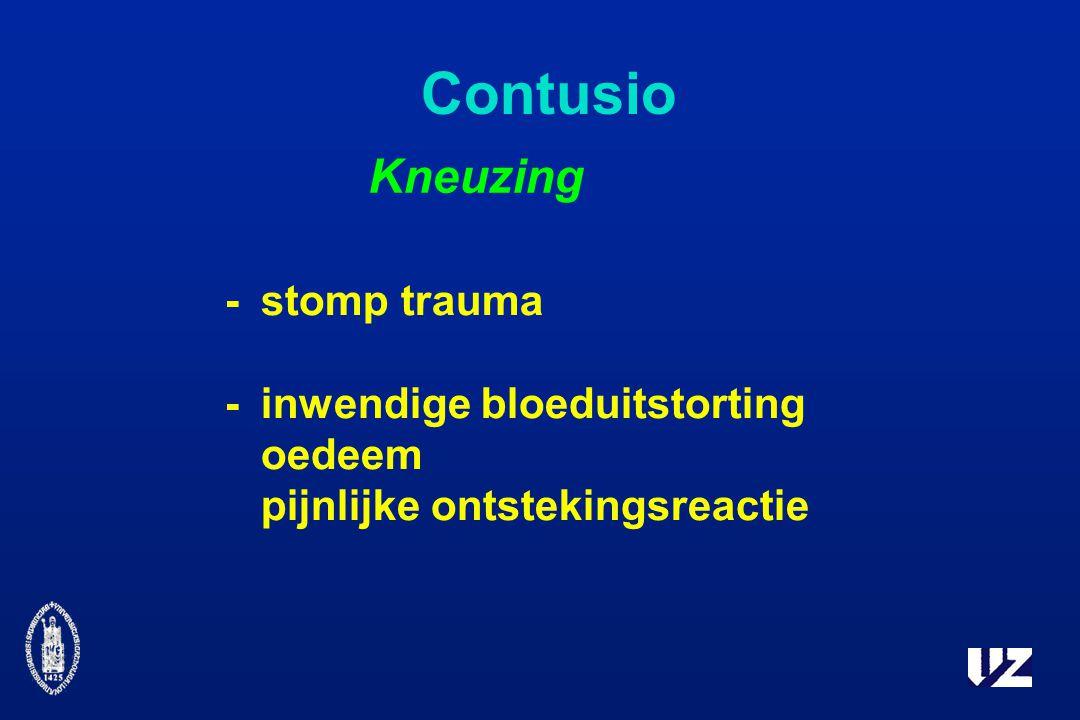 Contusio Kneuzing - stomp trauma - inwendige bloeduitstorting oedeem