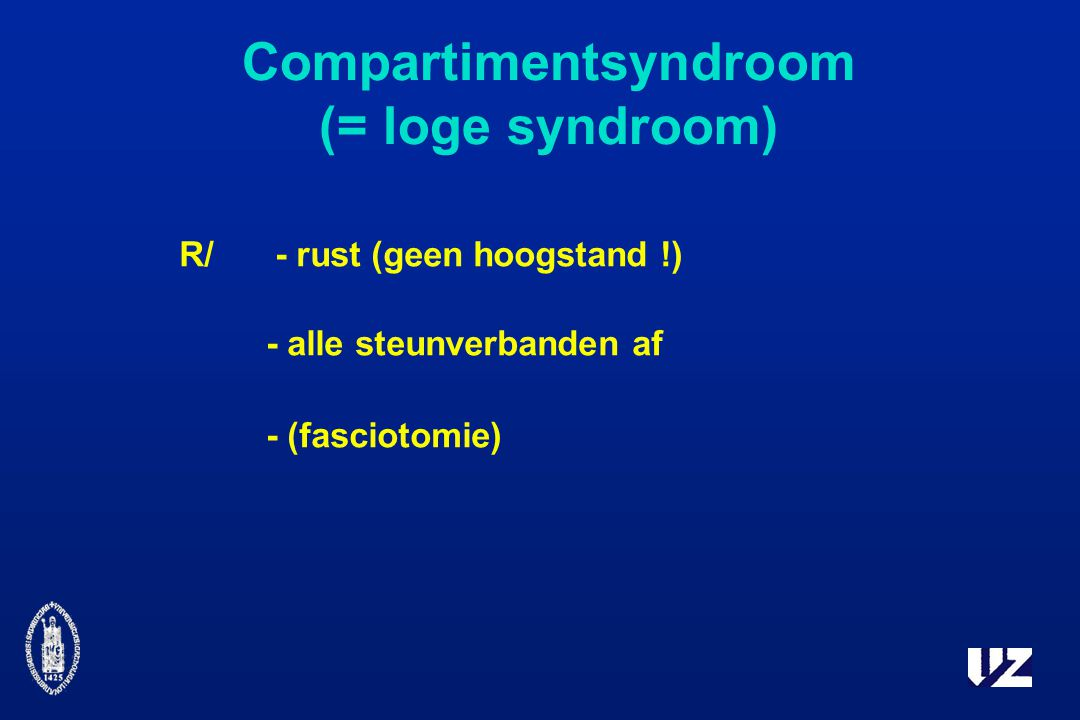 Compartimentsyndroom (= loge syndroom)
