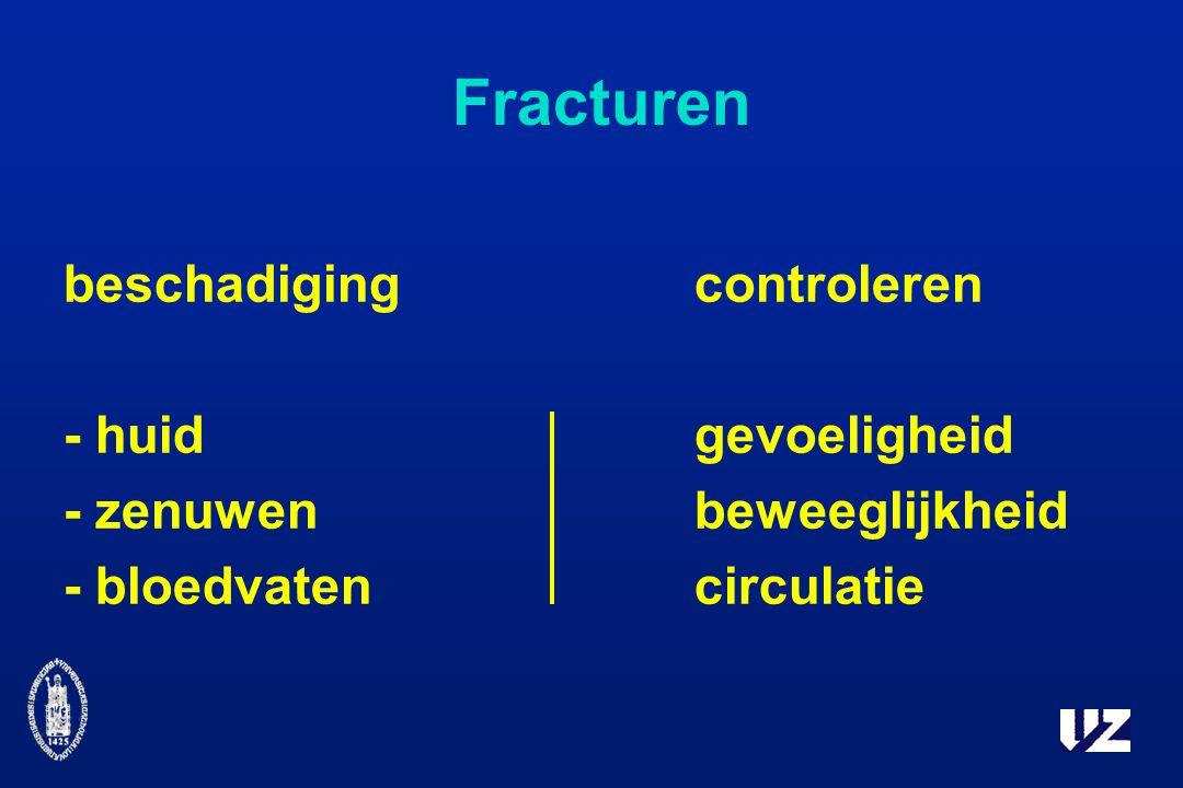 Fracturen beschadiging controleren - huid gevoeligheid