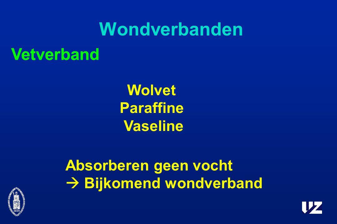 Wondverbanden Vetverband Wolvet Paraffine Vaseline