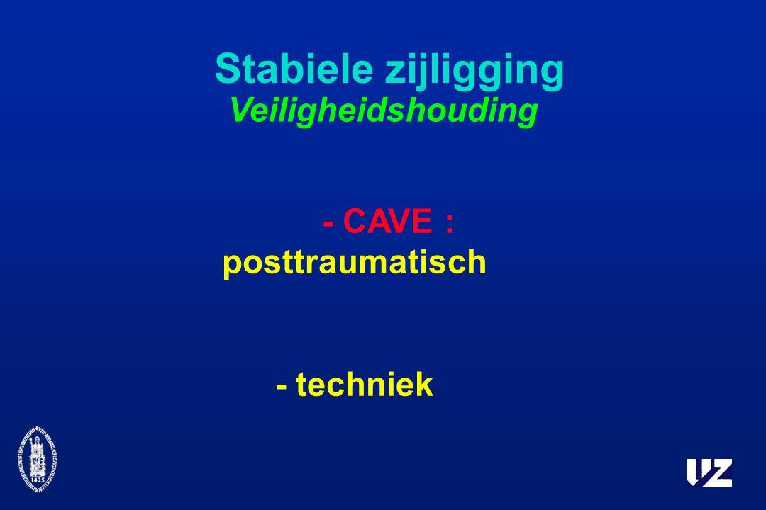 - CAVE : posttraumatisch