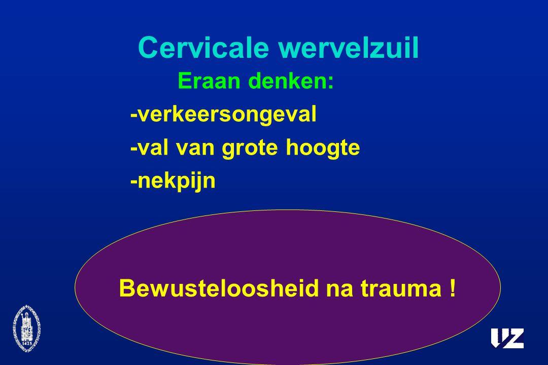 Bewusteloosheid na trauma !