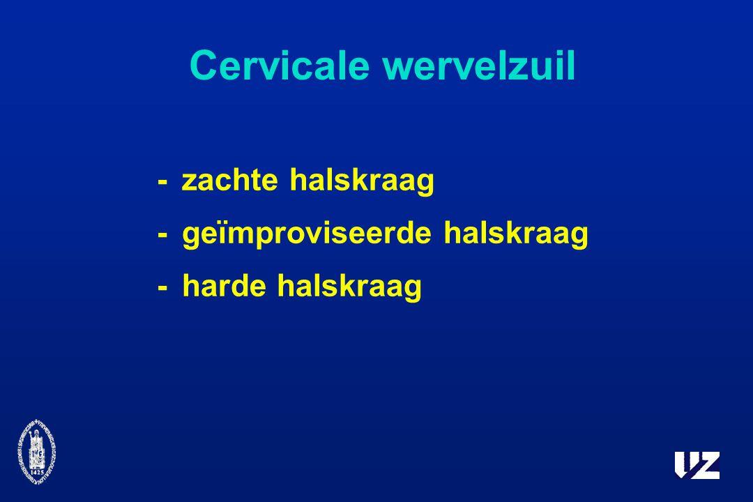Cervicale wervelzuil - zachte halskraag - geïmproviseerde halskraag
