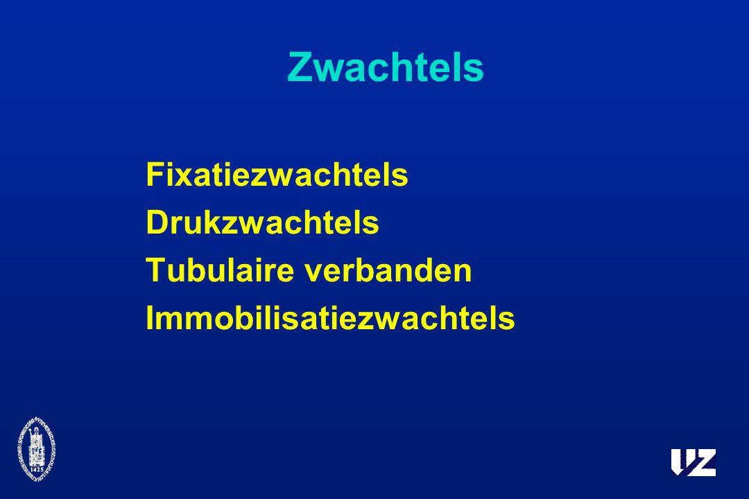 Zwachtels Fixatiezwachtels Drukzwachtels Tubulaire verbanden